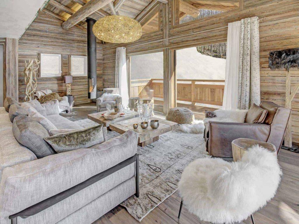 salon avec touches de textile