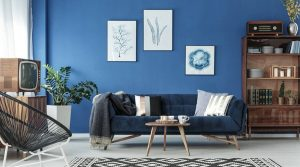 salon bleu classique