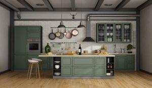 cuisine vert olive neutre