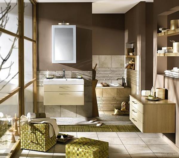 salle de bain avec meubles